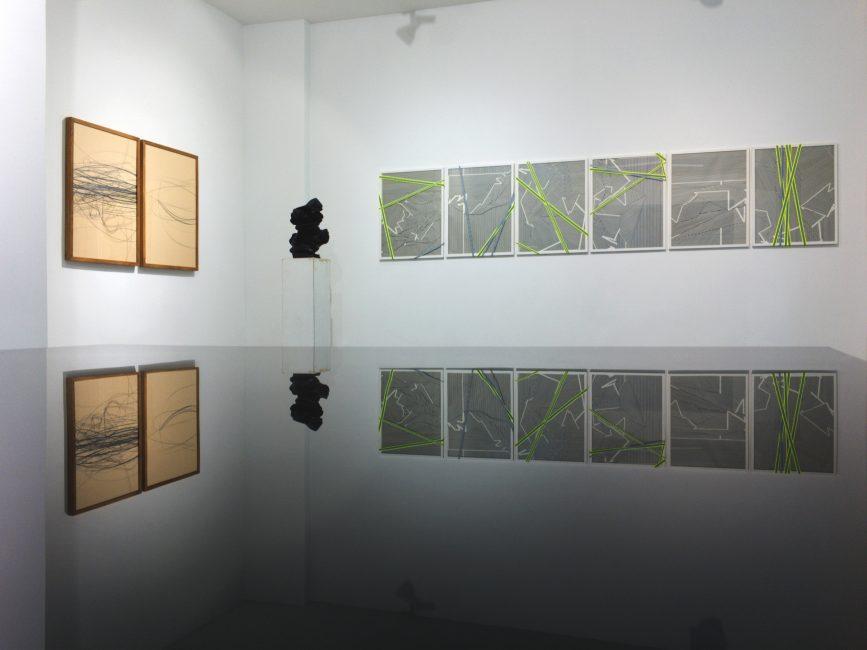 fotocredit: Stephan Hüsch, PITCH LINE by Aldona Kut, Sebastian Kuhn, Tobias Lehner and Matthias Wohlgenannt, GalleryJENSWALTHER, 2017